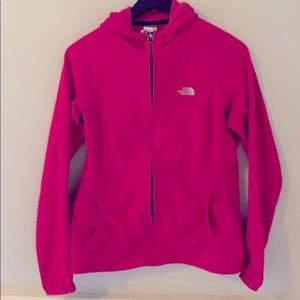 The North Face light fleece jacket/hoodie L